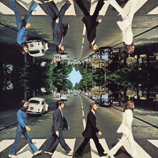 abbey road the beatles reflection